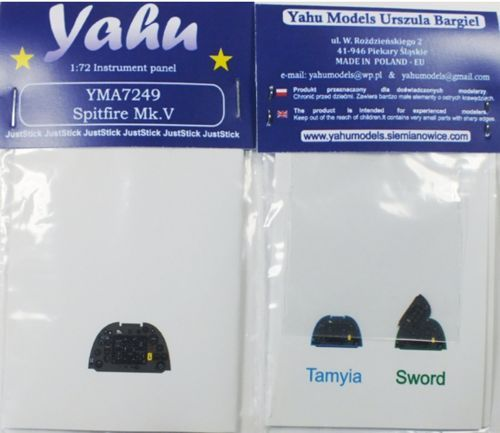 Yahu Models 1/72 Supermarine Spitfire Mk.VC Photoetched Instrument Panels # YMA7249