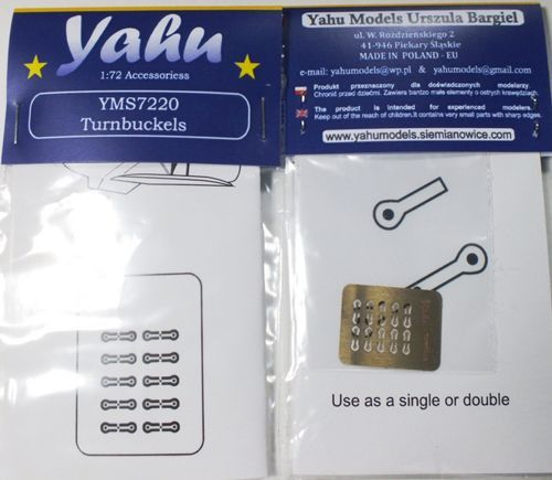 Yahu Models 1/72 Turnbuckles Biplane Rigging Tensioners # YMS7220