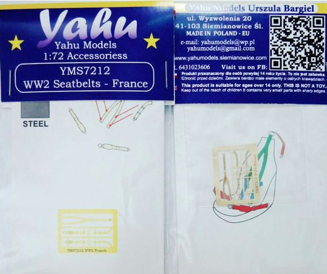 Yahu Models 1/72 WWII seatbelts France # YMS7212