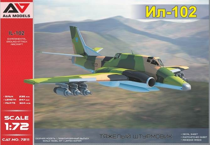 A & A Models 1/72 Ilyushin Il-102 Experimental Ground-Attack Aircraft # 7211