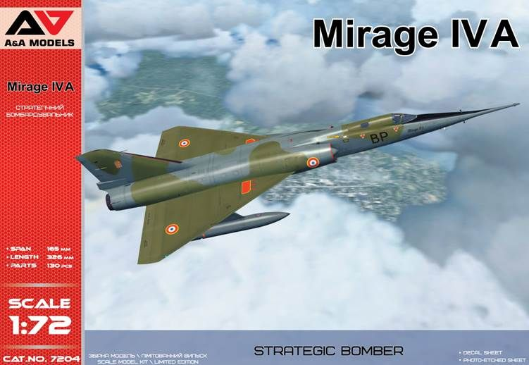 A & A Models 1/72 Mirage IVA Strategic Bomber # 7204