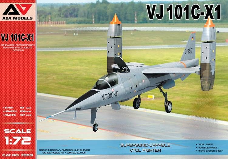 A & A Models 1/72 VJ-101C-X1 Supersonic-Capable VTOL Fighter # 7203