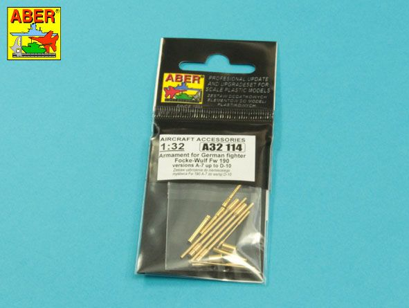 Aber 1/32 Armament for German fighter Focke-Wulf Fw-190A-7-D-10 # A32114