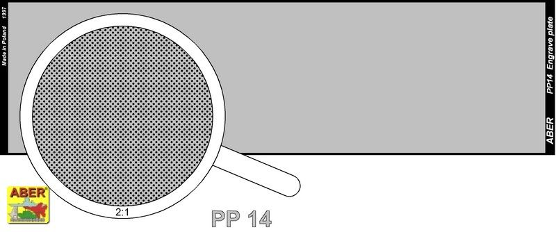 Aber 1/35 Engraved Plate (140mm x 39mm) Pattern 14 # PP14