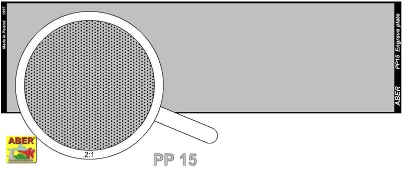 Aber 1/35 Engraved Plate (140mm x 39mm) Pattern 15 # PP15