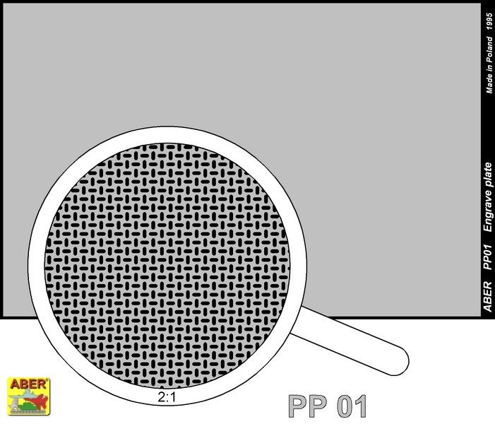 Aber 1/35 Engraved Plate (88mm x 57mm) Pattern 1 # PP01