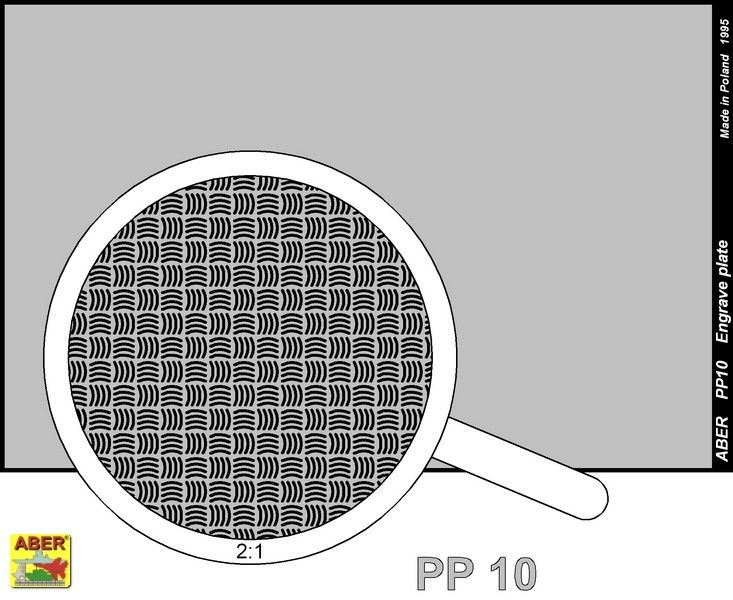 Aber 1/35 Engraved Plate (88mm x 57mm) Pattern 10 # PP10
