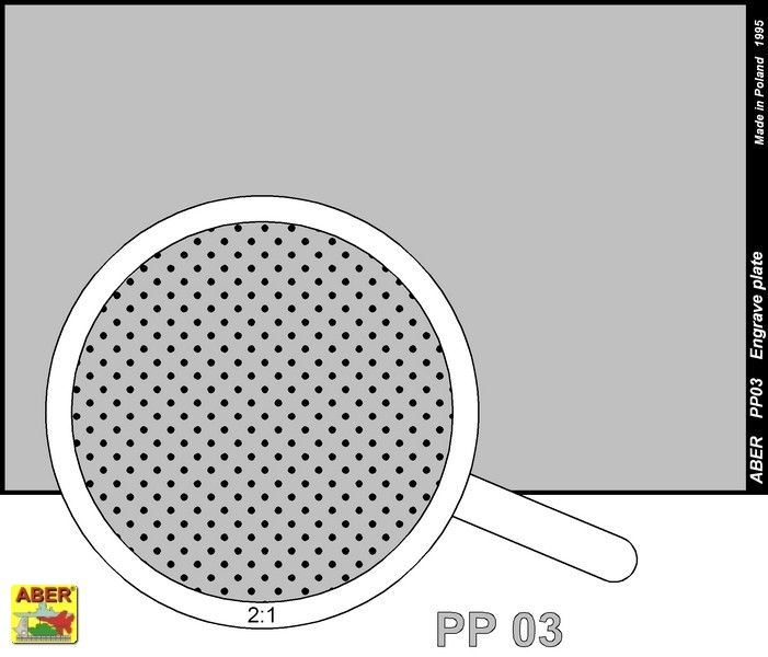 Aber 1/35 Engraved Plate (88mm x 57mm) Pattern 3 # PP03