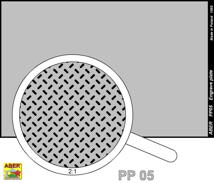 Aber 1/35 Engraved Plate (88mm x 57mm) Pattern 5 # PP05