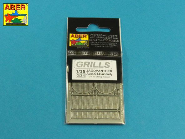 Aber 1/35 Grilles for Jagdpanther Ausf.G1/G2 Early # 35G34