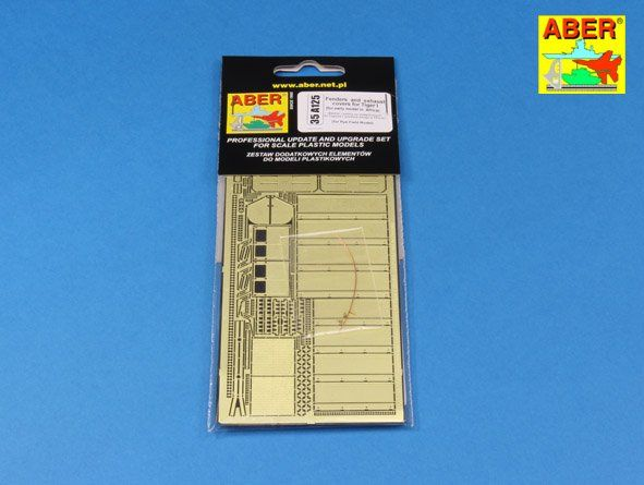 Aber 1/35 Pz.Kpfw.VI Tiger I Fenders & Exhaust Covers (for Early Model in Africa) # 35A125
