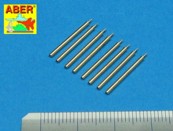 Aber 1/48 Set of 8 Turned cal .50 (12,7mm) U.S. Browning M2 Barrels for Republic P-47D Thunderbolt #