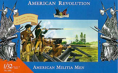 Accurate Figures 1/32 American Militia Men American Revolution #