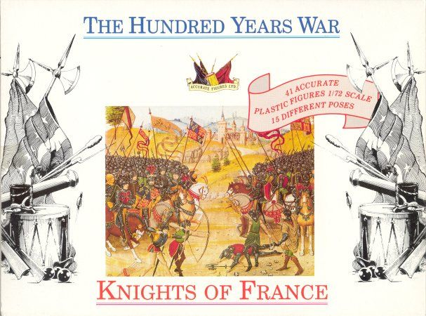 Accurate Figures 1/72 Knights of France Hundred Years War # 7207