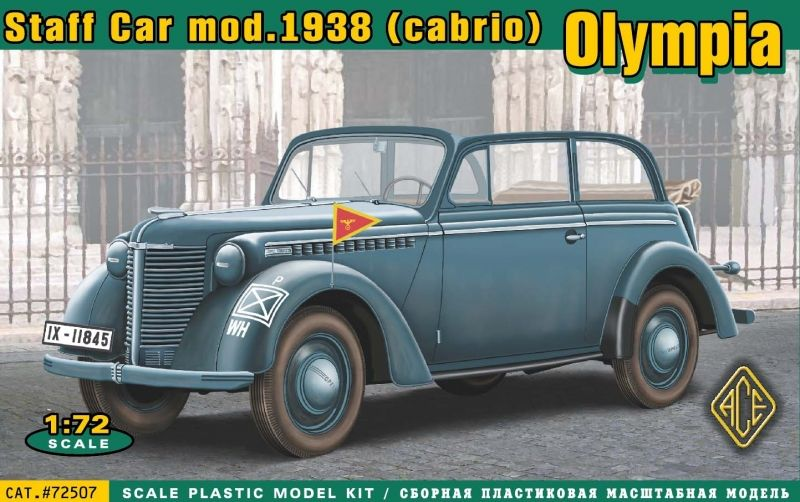 Ace 1/72 Olympia Staff Car Mod. 1838 (Cabrio) # 72507