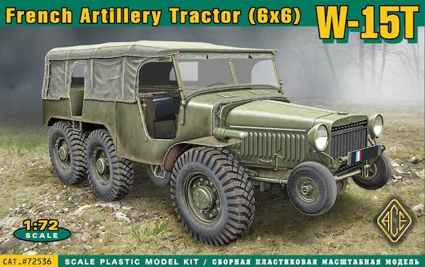 Ace 1/72 W-15T French WWII 6x6 Artillery Tractor # 72536