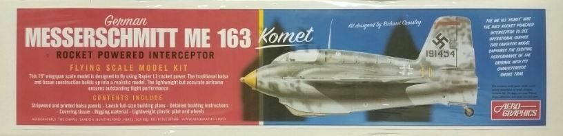 Aerographics - Messerschmitt Me-163 Komet Rocket Powered Interceptor Balsa Kit # AE09