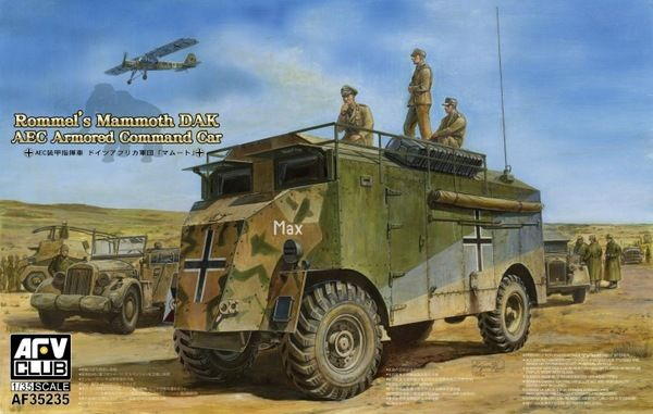 AFV 1/35 Rommel's Mammoth DAK AEC Armoured Command Vehicle # 352