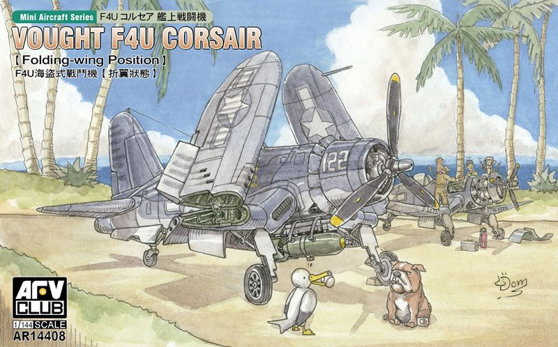 AFV Club 1/144 Vought F4U Corsair (Folding-Wing Position) # AR14408