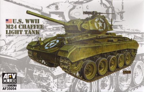 AFV Club 1/35 M24 Chaffee U.S. WWII Light Tank # AF35054