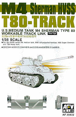 AFV Club 1/35 M4 Sherman HVSS Type 80 Workable Track Links # AF35032