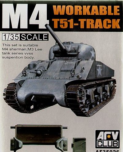 AFV Club 1/35 M4 T-51 Workable Track # 35026