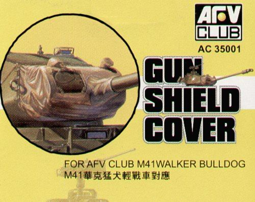 AFV Club 1/35 M41 Walker Bulldog Gun Shield Cover # AC35001