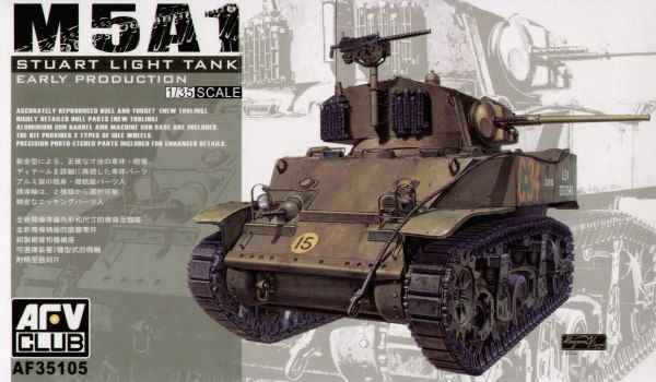 AFV Club 1/35 M5A1 Stuart Light Tank Early Production # 35105