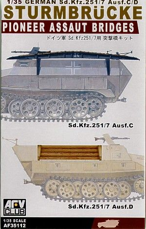 AFV Club 1/35 Pioneer Assault Bridges for German Sd.Kfz.251/7 Ausf.C/D # AF35112