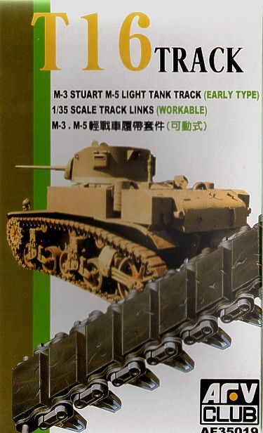 AFV Club 1/35 T-16 Track M3 Stuart & M5 Light Tank (Early) Workable Track Links # AF35019