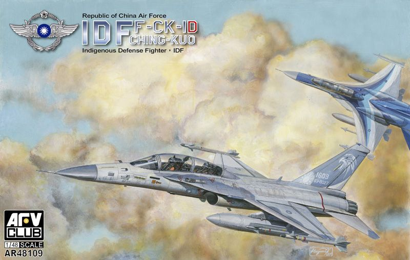 AFV Club 1/48 F-CK-1D WarCraft Fighter Dual Seat Type # AR48109