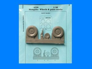 Aires 1/32 de Havilland Mosquito Type B Wheels & Paint Mask # 4296