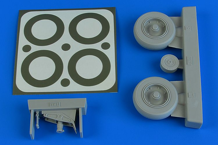 Aires 1/32 Douglas A-1J Skyraider Wheels & Paint Masks # 2231