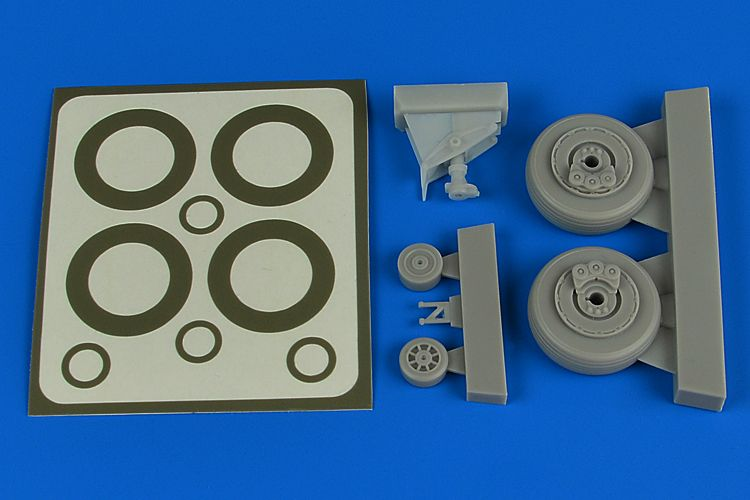 Aires 1/48 Douglas A-1H Skyraider Wheels & Paint Masks # 4793