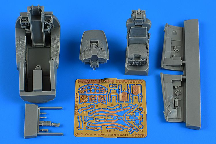 Aires 1/48 Lockheed F-104G Starfighter Cockpit Set (M.B. GQ-7A Ejection Seat) # 4810