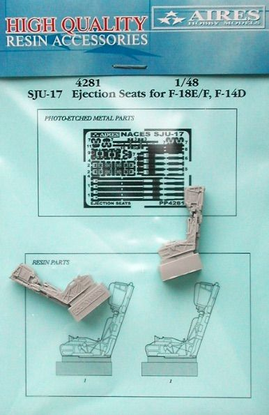 Aires 1/48  SJU-17 Ejection Seats for F-18E/F or F-14D # 4281