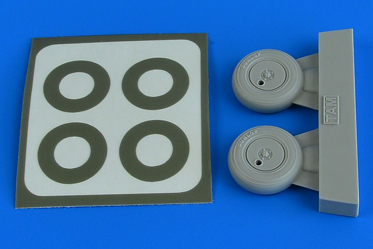 Aires 1/48 Supermarine Spitfire Mk.1 Wheels with Covers & Paint Masks # 4781