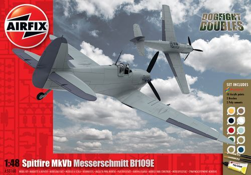 Airfix 1/48 Supermarine Spitfire Mk.Vb & Messerschmitt Bf-109E Dogfight Double Gift Set # A50160