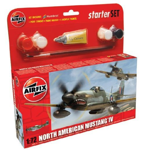 Airfix 1/72 North American Mustang IV Starter Set # 55107