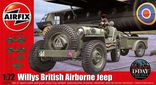 Airfix 1/72 Willy's British Airborne Jeep # A02339