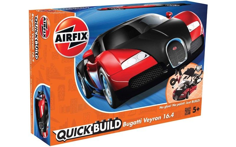Airfix Quick Build Bugatti Veyron 16.4 Black & Red # J6020