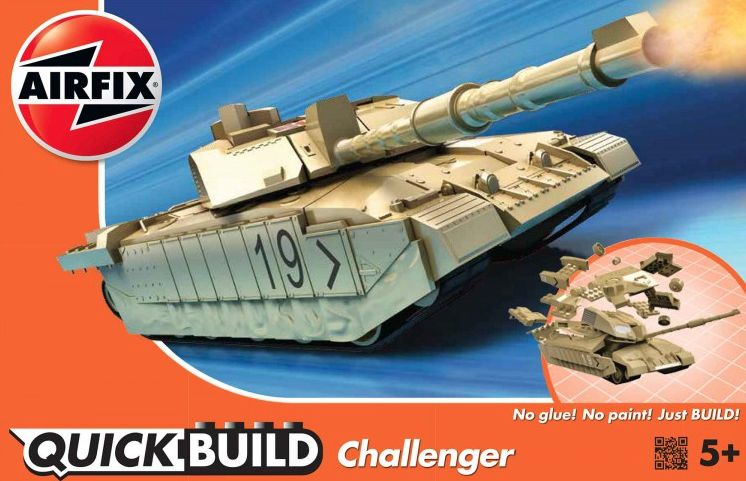 Airfix Quick Build Challenger Tank # J6010