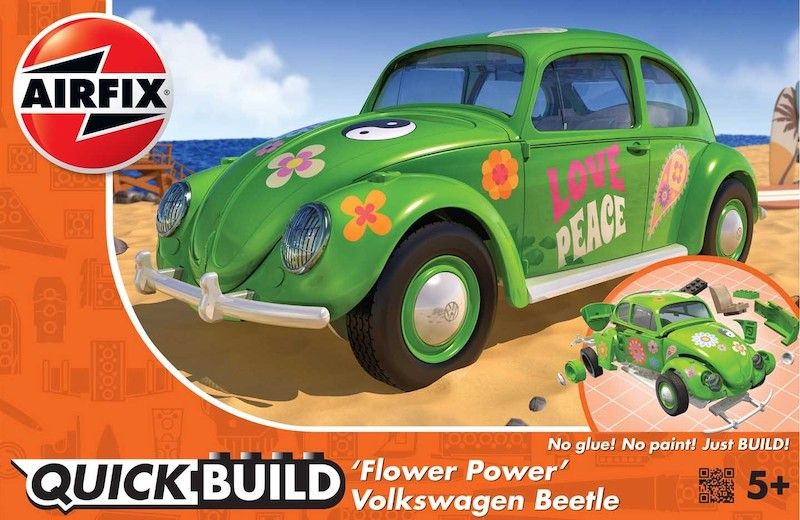 Airfix Quick Build 'Flower Power' Volkswagen Beetle # J6031