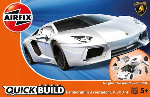 Airfix Quick Build Lamborghini Aventador LP 700-4 White # J6019