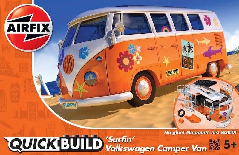 Airfix Quick Build 'Surfin' Volkswagen Camper Van # J6032