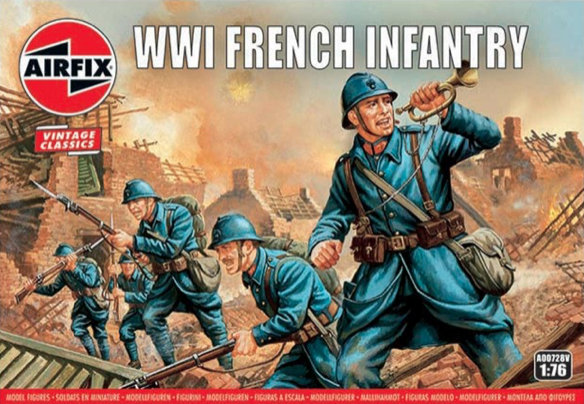 Airfix Vintage Classic 1/72 WWI French Infantry # A00728V