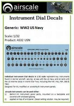 Airscale 1/32 U.S. Navy Instruments # AS32USN