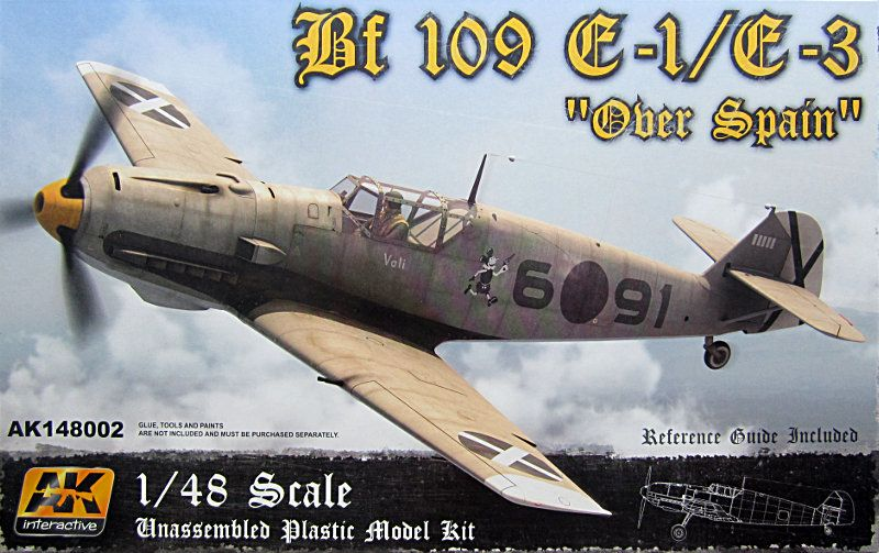 "AK Interactive 1/48 Bf 109 E-1/E-3 ""Over Spain"" # 148002"