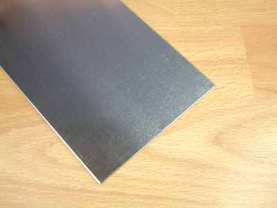 Albion Alloys - 100mm x 250mm Aluminium Sheet 0.5mm Thick (2 pieces) # SM5M