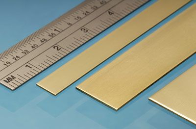 Albion Alloys - 305mm Brass Strip 0.6mm x 0.4mm (5 pieces) # BS1M